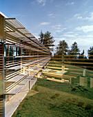 Außenansicht vom Hotel, Vigilius Mountain Resort, Vigiljoch, Lana, Trentino-Südtirol, Italien