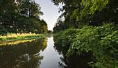 Schwechat river in idyllic landscape, Lower Austria, Austria, Europe