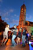 A night of Salsa dancing, Place de la Republique, Porto Vecchio, Corsica, France