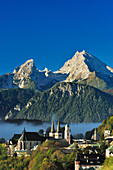 Berchtesgaden with Watzmann, Berchtesgaden Alps, Berchtesgaden, Upper Bavaria, Bavaria, Germany