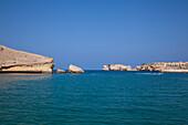 Bay and rocks near Oman Dive Centre, Muscat, Masqat, Oman, Arabian Peninsula