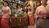 Japanisches Sushi Restaurant, Makati City, Insel Luzon, Philippinen