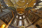 Interior view of the Hagia Sophia, Istanbul, Turkey, Europe