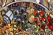Turkish lamps at Grand Bazaar market, Istanbul, Turkey, Europe