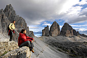 Paternkofel, Three Peaks, Sexten Dolomites, Puster valley, UNESCO World Nature Site, Dolomites, South Tyrol, Trentino-Alto Adige, Italy