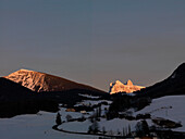 St Micahel, Geislergruppe, UNESCO Weltnaturerbe, Dolomites, Kastelruth, Eisacktal, South Tyrol, Italy, Südtirol, Trentino-Alto Adige, Italien