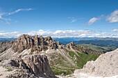 Denti di Terrarossa, Seiser Alm, Valle Isarco, Alto Adige, South Tyrol, Italy