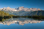 Wuhn Weiher, Tierser Valley,  Eisack Valley, Alto Adige, South Tyrol, Italy