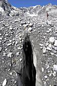 Crevasse, Ortler, Alto Adige, South Tyrol, Italy