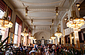 The Interior Of The Restauarant At The Obecni Dum (Municipal House), Prague, Czech Republic, Europe