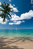 Yacht off the west coast of Barbados, Barbados