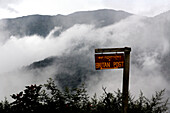 Remote sign for Bhutan Post, Road to Thimpu, Bhutan
