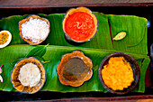 Tray with treatment products, The Seychelles