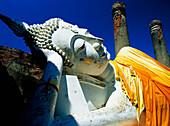 Reclining Buddha statue at Wat Yai Chai Monghon, Ayuthaya, Thailand, Ayuthaya, Thailand