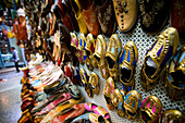 Rows of gold coloured shoes, Medina, Tunis, Tunisia, North Africa