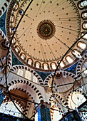 Domed roof of Rustem Pasa Mosque, Istanbul, Turkey