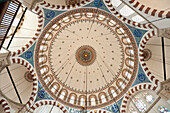 Domed ceiling of the Rustem Pasa Mosque, Istanbul, Turkey.