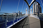 Footbridge, Salford docks & Lowry centre, Manchester, England