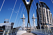 The Lowry Centre and footbridge, Salford, Manchester, England