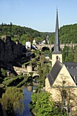 Luxembourg, general view, St-Jean church