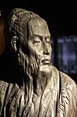 China, Jiangsu Province, Suzhou, Chinese Opera Museum, statue of Kunqu musician Wei Liangfu