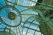 France, Paris, Grand Palais, detail of the glass roof