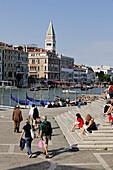 Italy, Veneto, Venice, Grand Canal, Santa Maria della Salute square