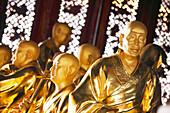 China, Yunnan province, Dali, Chong Sheng Temple, arhat statues