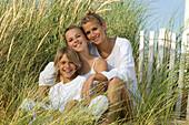 Smiling family at seaside