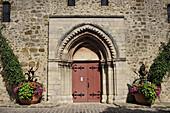France, Paris region, Essonne, Saint-Germain-lès-Arpajon, romanesque church