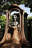 France, Paris, Montmartre cemetery, Emile Zola's grave