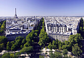France, Paris, streets view from Arch of Triumph