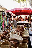 France, Var, Riviera, Saint Tropez market day in summer
