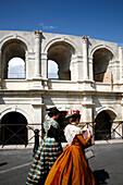 France, Provence Alpes Cote D'Azur, Bouches du Rhône (13), Arles, arena or amphitheatre, (Unesco world Heritage)