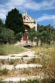 France, Provence Alpes Cote D'Azur, Bouches du Rhône (13), Fontvieille, Saint Gabriel chapel from 12th century