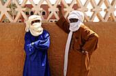 Algeria, Tamanrasset, tuareg men