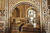 Tomb in the inner Taj  Mahal, Taj Mahal, UNESCO World Heritage Site, Agra, Uttar Pradesh, India