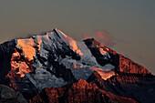 View from Niesen to Doldenhorn, UNESCO World Heritage Site Jungfrau-Aletsch protected area, canton of Bern, Switzerland