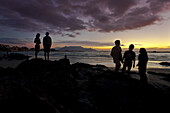 Evening at Bloubergstrand with views of Table Mountain and Cape Town, Western Cape, South Africa, RSA, Africa