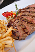 24 month Grass Fed Beef Sirloin 300gr with thin cut fries, Restaurant Carne SA, Cape Town, Western Cape, South Africa