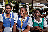 Waitresses at the Paulaner Biergarden, Victoria and Albert Waterfront, Cape Town, Western Cape, South Africa, RSA, Africa