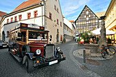 Vintage bus in Weimar, Belvedere-Express Sightseeing tour, Thuringia, Germany