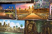 Paintings of temples at Temples of Angkor, Siem Reap, Cambodia