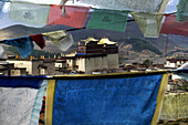 Prayer flags, Sumsanling Monastery, Shangri-La County, Yunnan Province, China