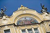Ornate architecture in Prague, Close Up, Czech Republic