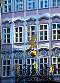 Purple building in old town, Prague, Czech Republic