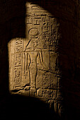 Reliefs on Great Hypostyle Hall, precinct of Amun, Karnak Temple, Luxor, Egypt