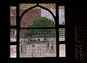 Screened window, close-up, Fatepur Sikri, India