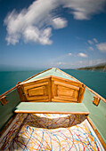 Boat speeding on water, Blurred Motion, Close Up, Jamaica