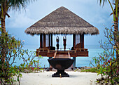 Working out at the One and Only spa, One and Only Reethi Rah Hotel, Reethi Rah, North Male Atoll, Maldives.